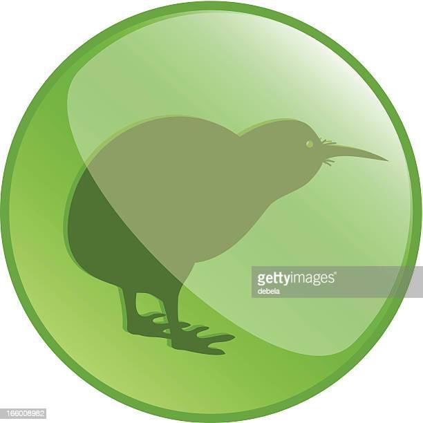 kiwi button icon - animal crossing sign stock illustrations