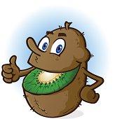 Kiwi Fruit Cartoon Character