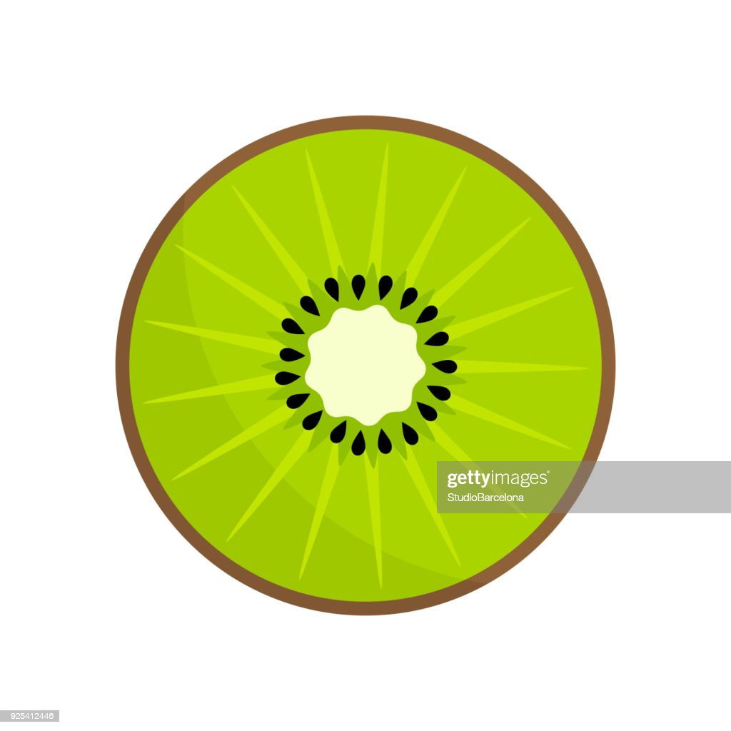 Kiwi fruit slice icon