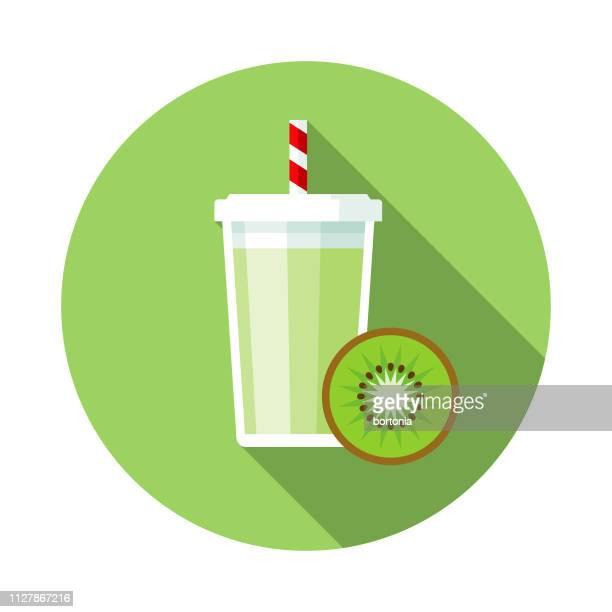 ilustrações de stock, clip art, desenhos animados e ícones de kiwi smoothie icon - fruta kiwi