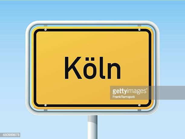 Köln Deutschland City Road Sign