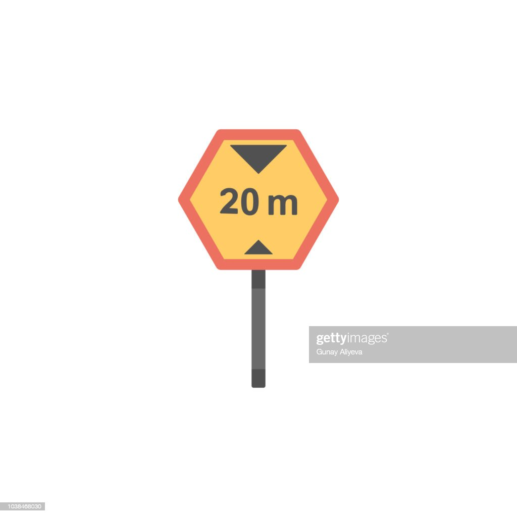 20 km speed limit colored icon. Element of road signs and junctions icon for mobile concept and web apps. Colored 20 km speed limit can be used for web and mobile