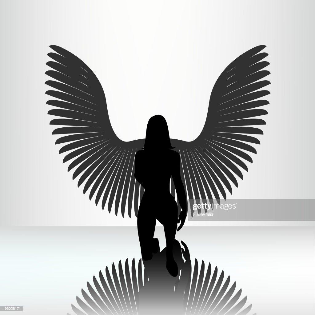Kneeling angel