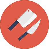 Knife Colored Vector Icon