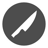 Knife icon. Vector