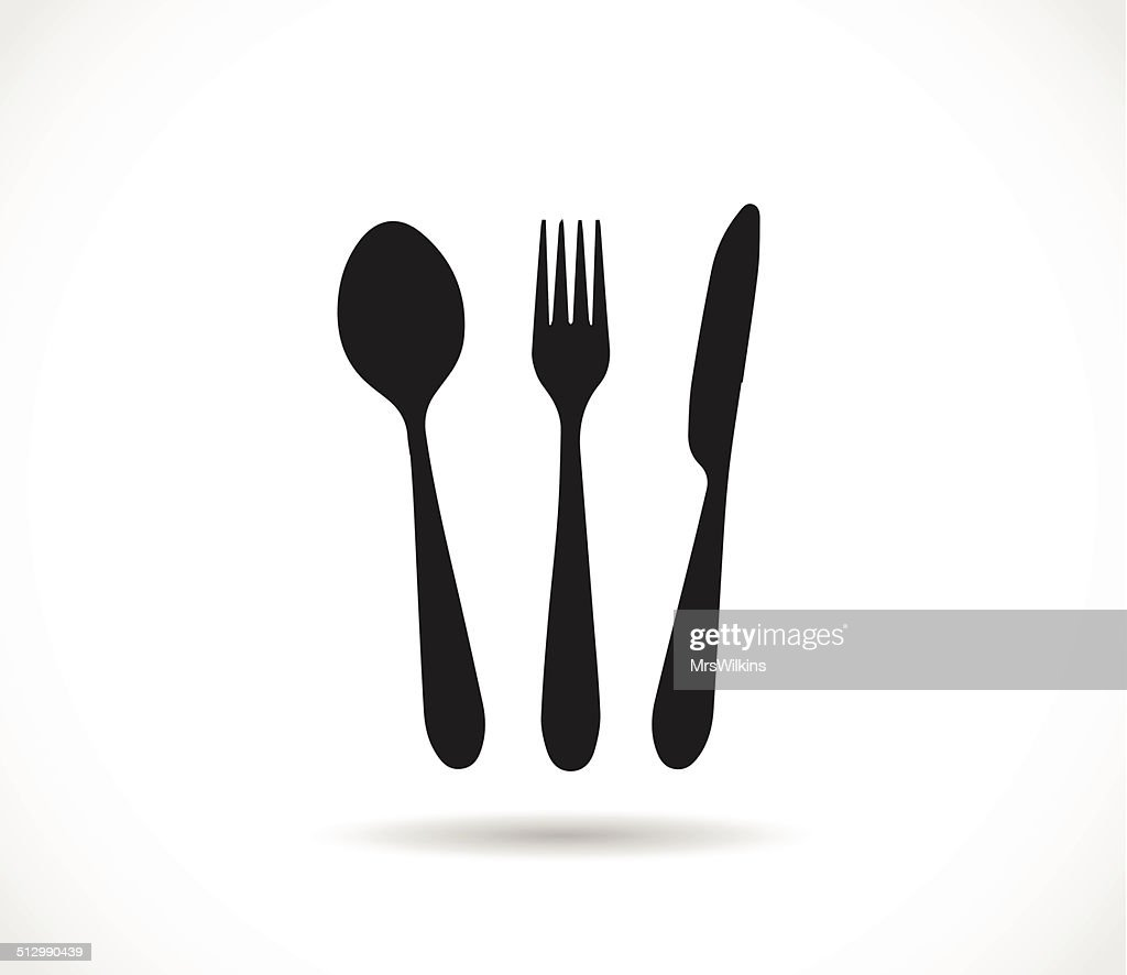 Knife, spoon and fork icon shape vector