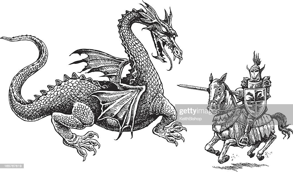Knight And Dragon Medieval High Res Vector Graphic Getty Images