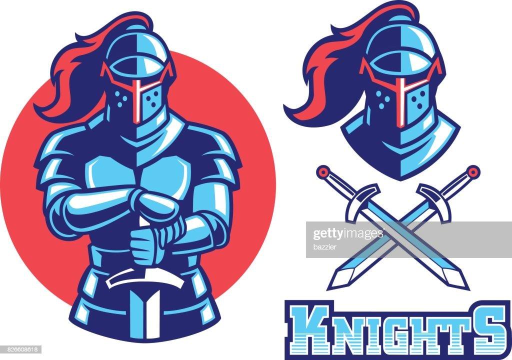 knight armor mascot