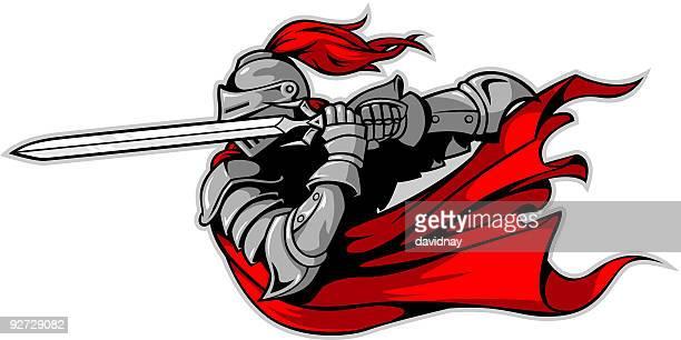 ilustrações de stock, clip art, desenhos animados e ícones de knight ataque - luta de espadas