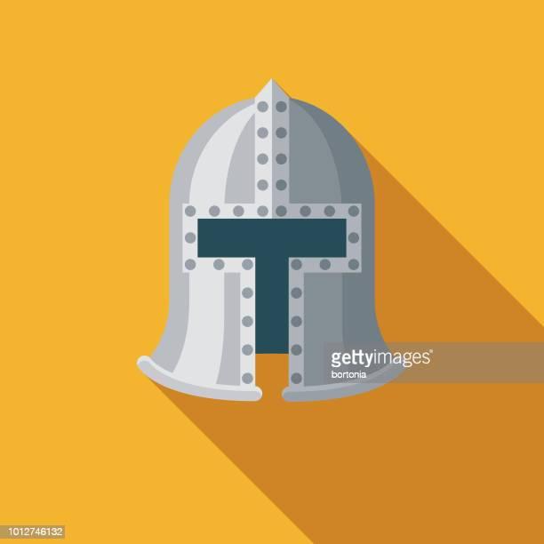 knight flat design united kingdom icon - sports helmet stock illustrations