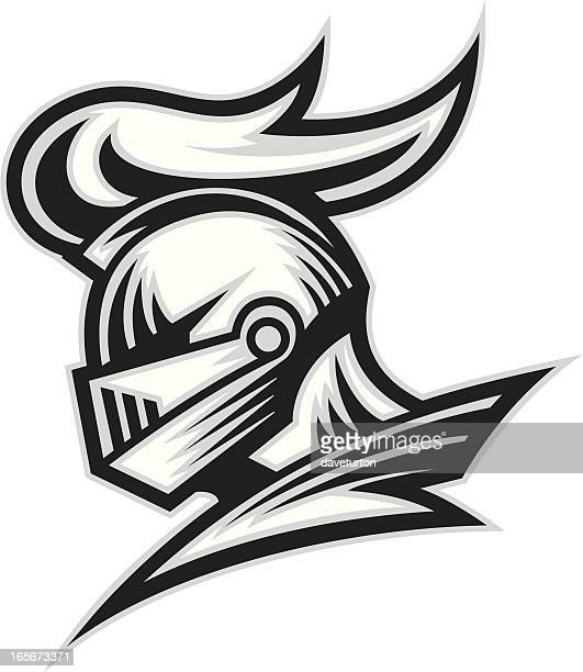 knight head b & w - ritter stock-grafiken, -clipart, -cartoons und -symbole