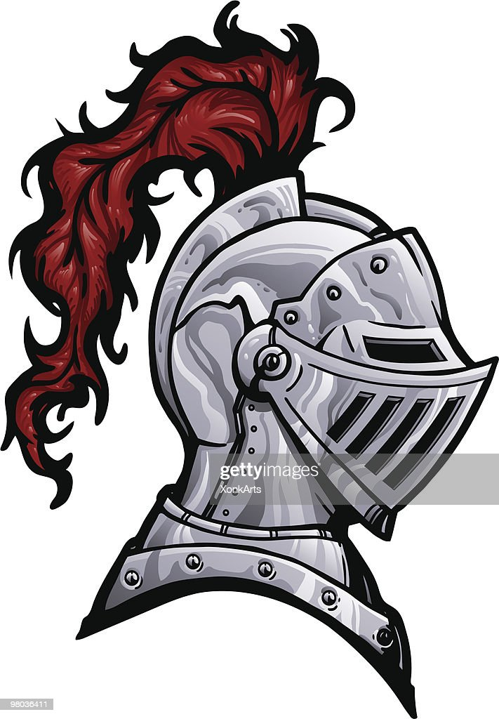Knight Helmet with Plume : stock illustration