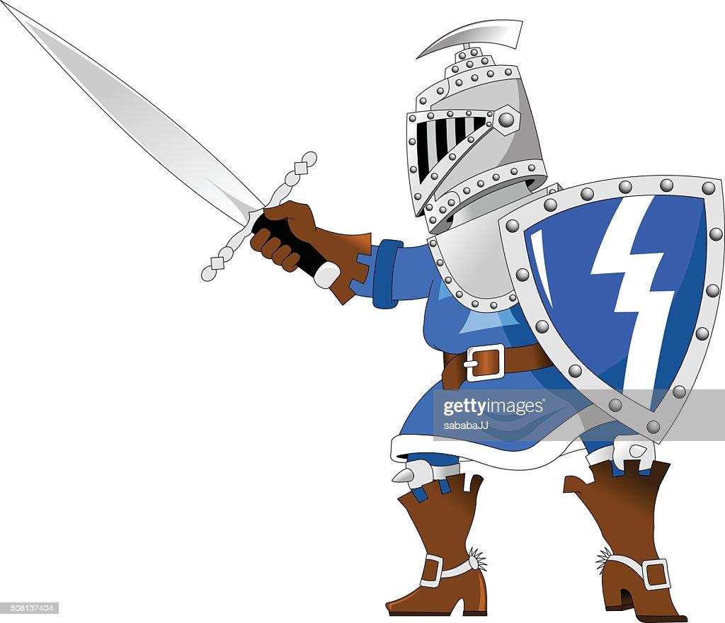 Knight in blue