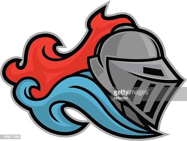 knight mascot clip art - knight person stock illustrations, clip art, cartoons, & icons