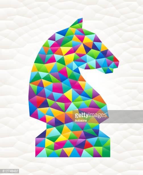 knight on triangular pattern mosaic royalty free vector art - free mosaic patterns stock illustrations