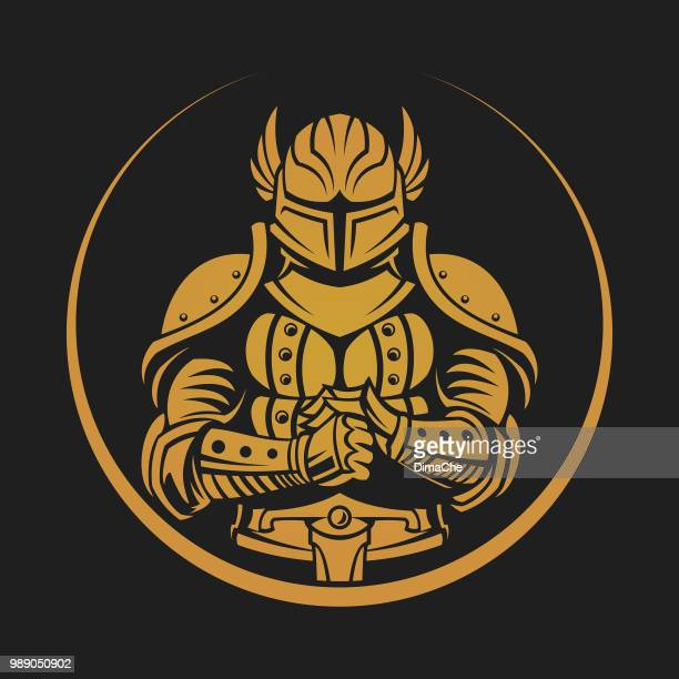Knight warrior vector emblem