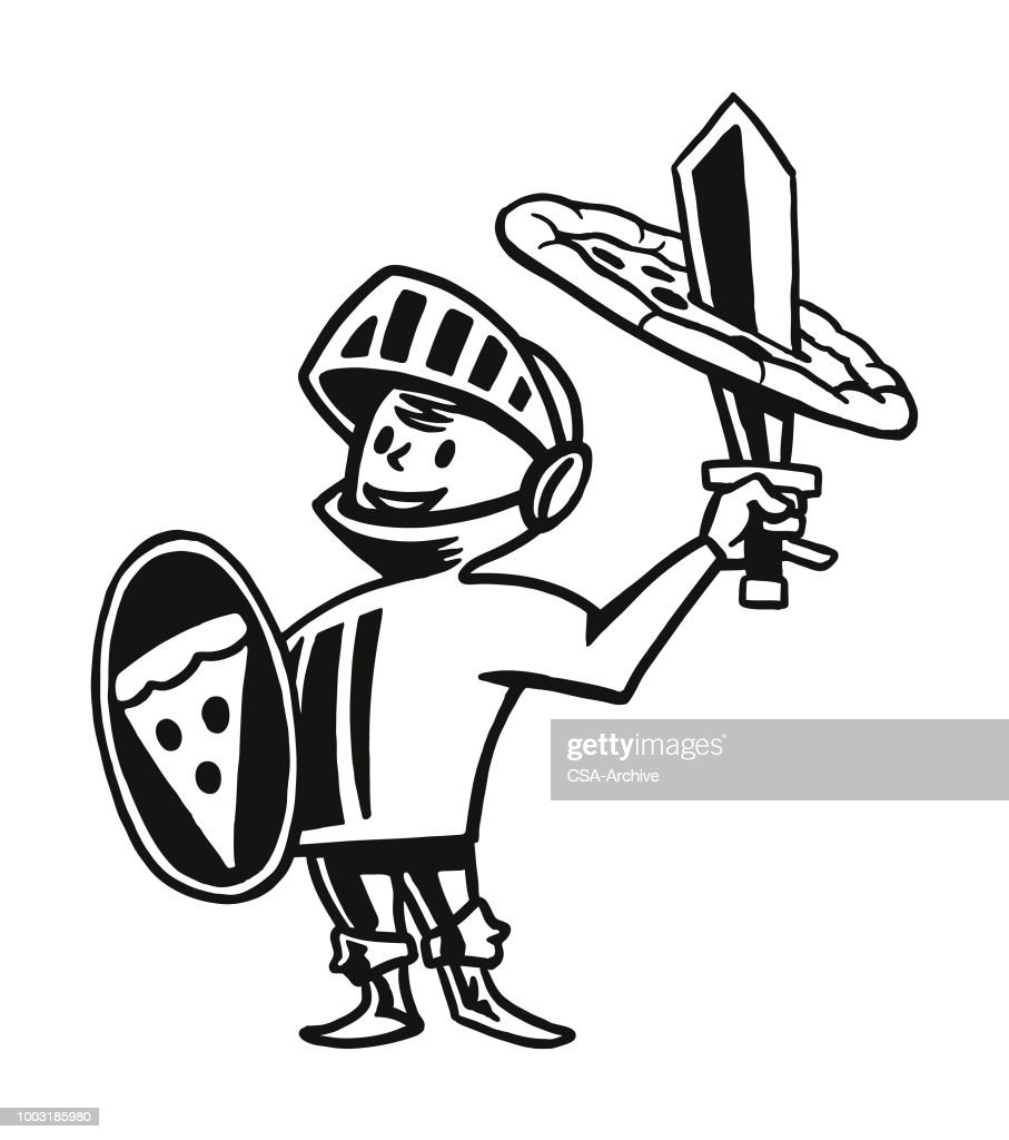 Knight with a Pizza