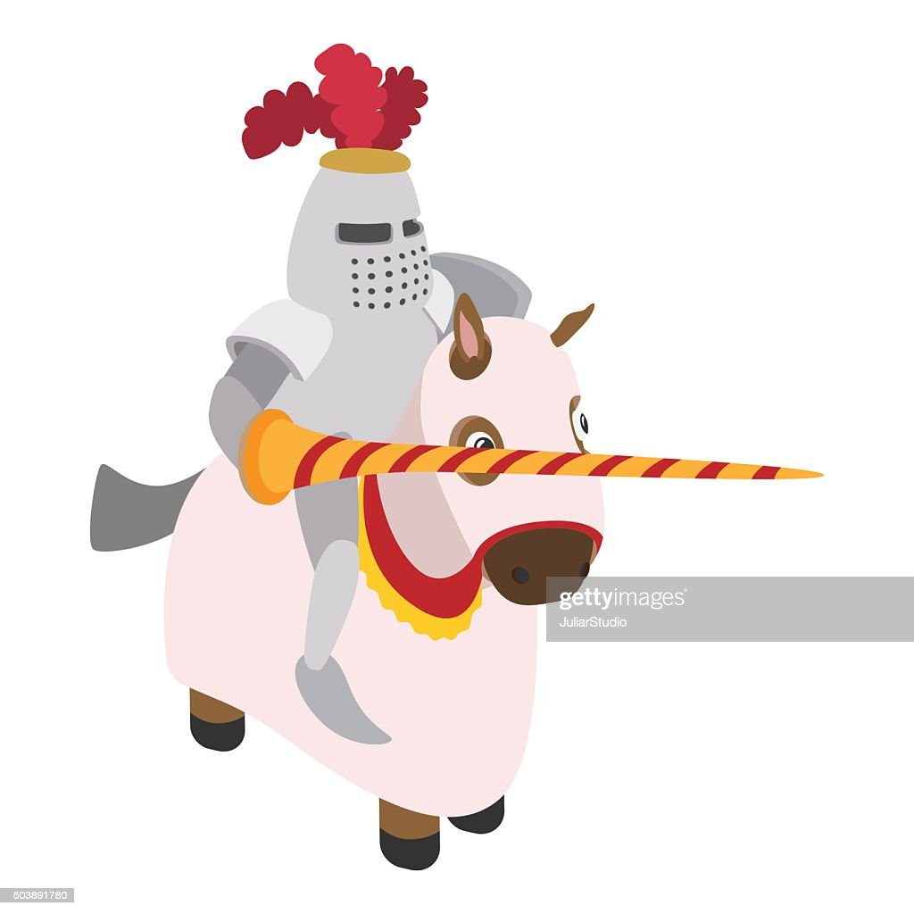 Knight with spear and horse