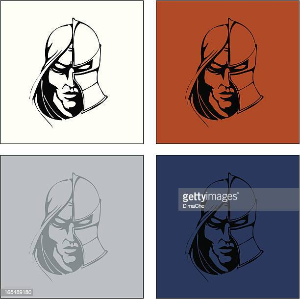 knight`s head - knight person stock illustrations, clip art, cartoons, & icons