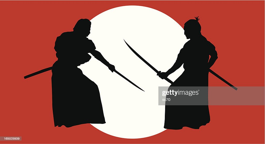Knights of Japan or  Samurai ( Vector )