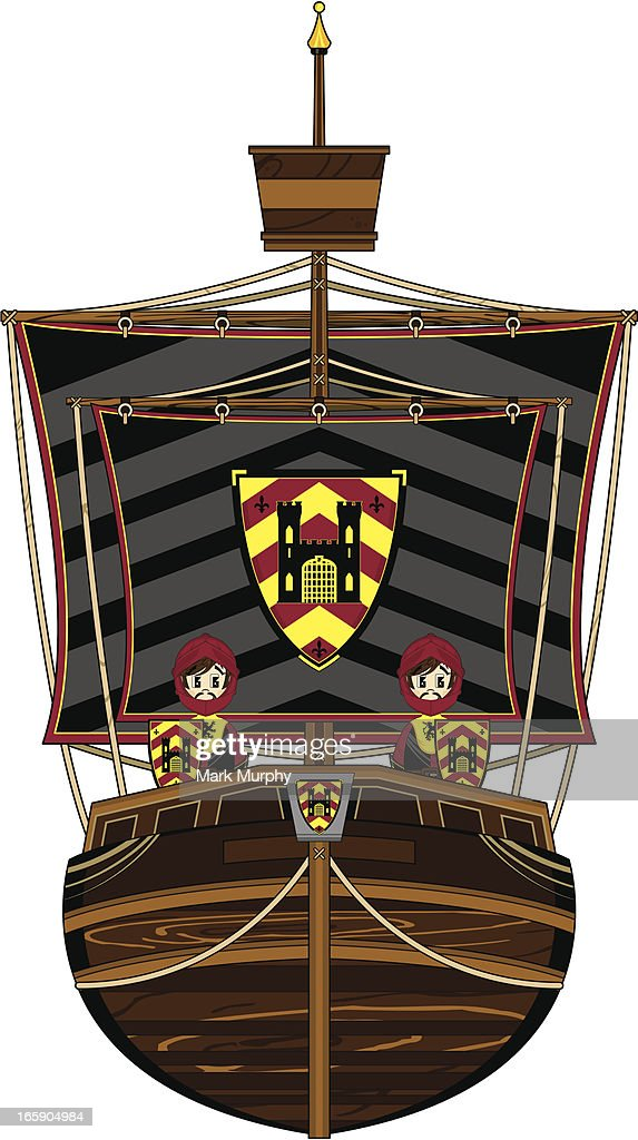 Knights on Medieval Galleon