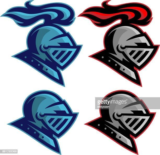 knights sports pack - work helmet stock illustrations