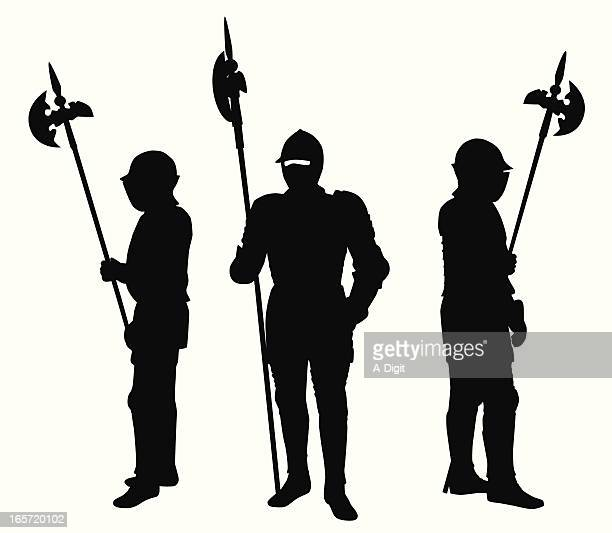 Knights Vector Silhouette