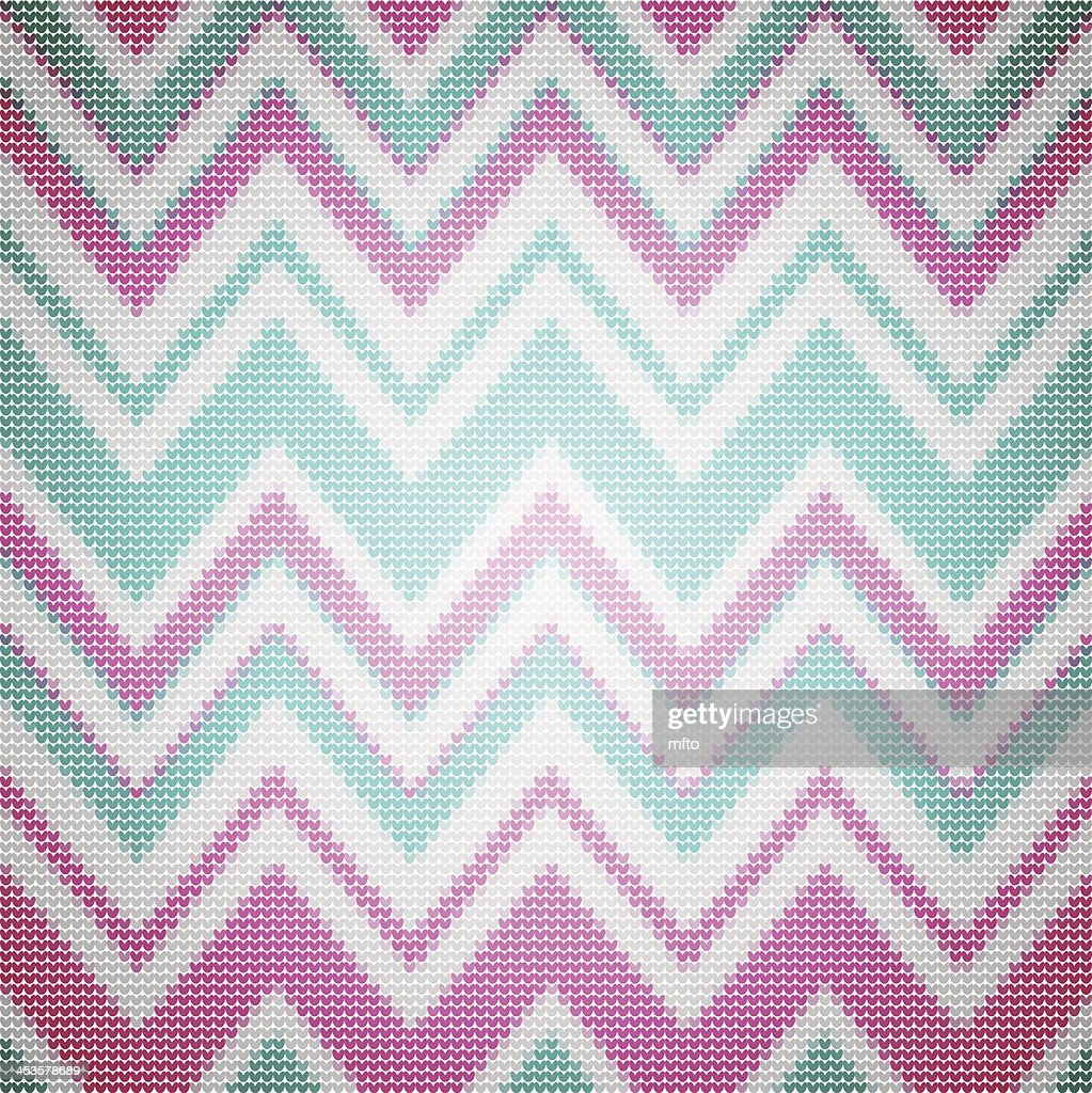 Knit Chevron Pattern Vector Art | Getty Images