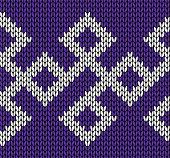 Knit design. Seamless pattern. Vector knitting texture