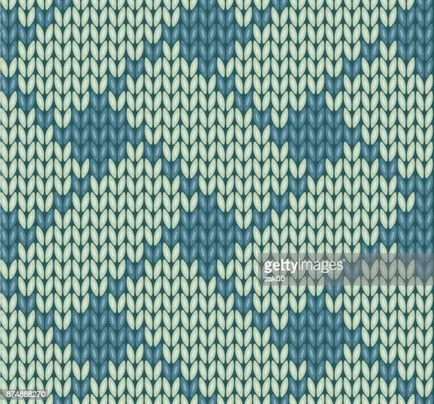 Diseño de punto. De patrones sin fisuras. Textura de punto del vector