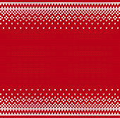 Knit geometric ornament to printing on fabric. Scandinavian knitted pattern for a sweater in fair Isle style.