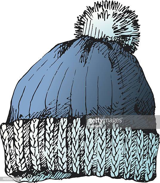 Illustrations et dessins anim s de bonnet de laine getty images - Dessin de bonnet ...