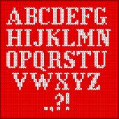 knitted alphabet set