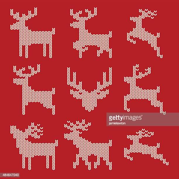 Gestrickte Christmas Reindeer
