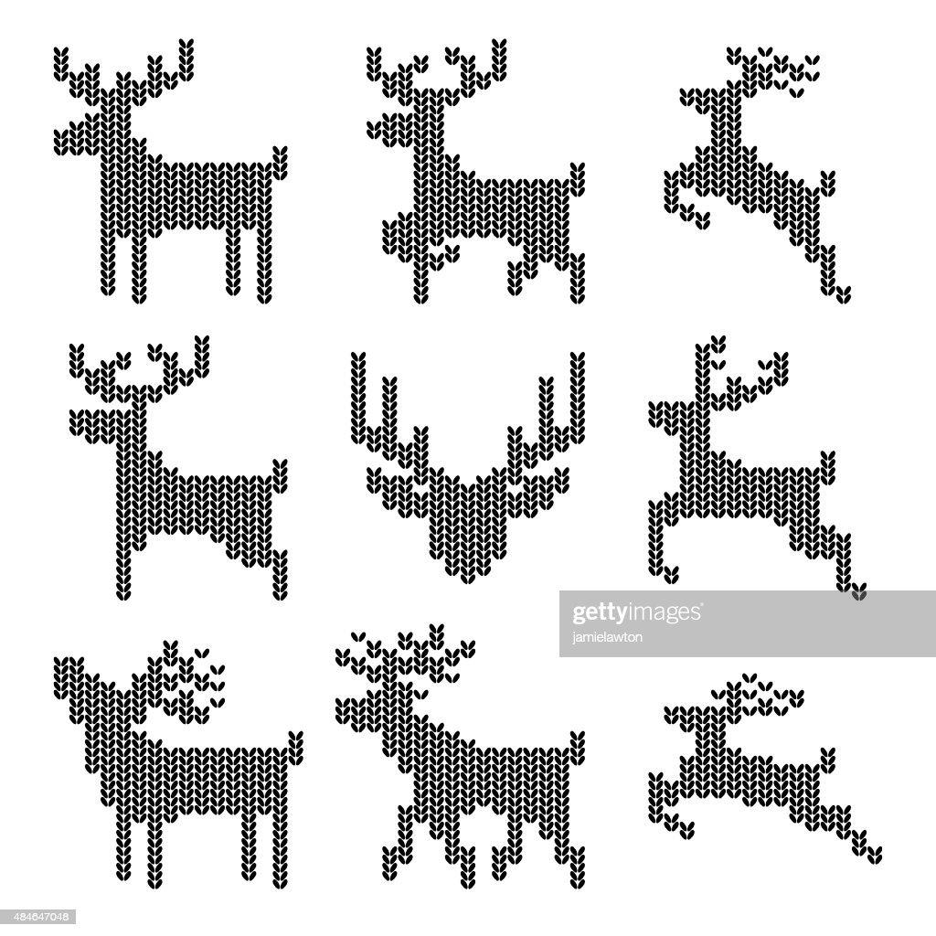 Knitted Christmas Reindeer