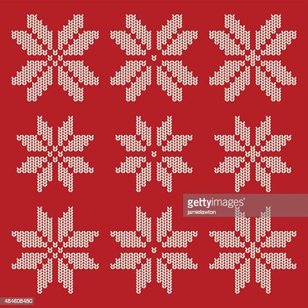 ilustrações, clipart, desenhos animados e ícones de tricotado neve de natal - roupa tradicional