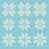 Knitted Christmas Snowflakes