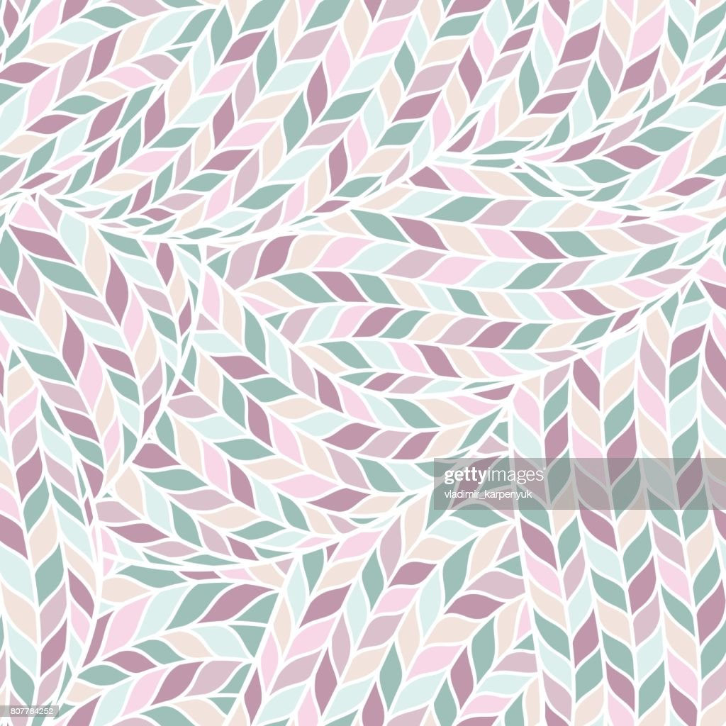 Knitted Doodle Seamless Colorful Ornamental  Pattern