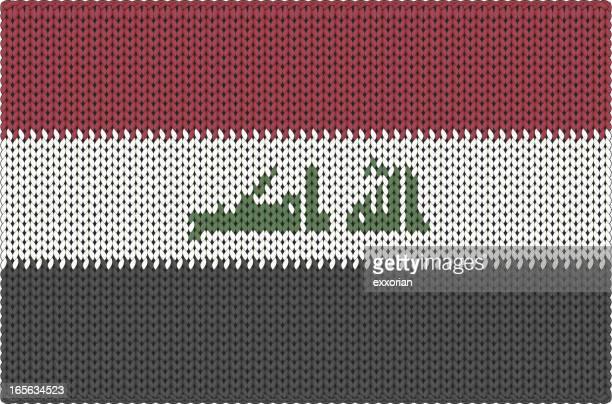 knitted flag - iraq - arabic script stock illustrations, clip art, cartoons, & icons