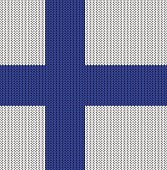 Knitted flag of Finland