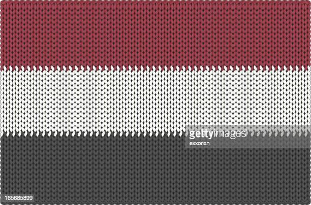 Bandera de tejido de Yemen