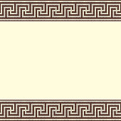Knitted greek background