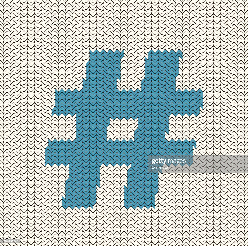 Knitted Hashtag Symbol