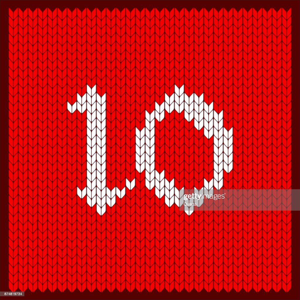 knitted number 10