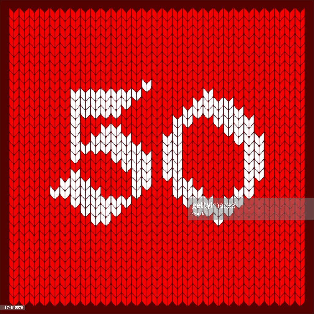 knitted number 50