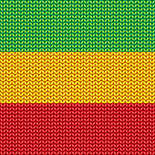 Knitted reggae pattern.