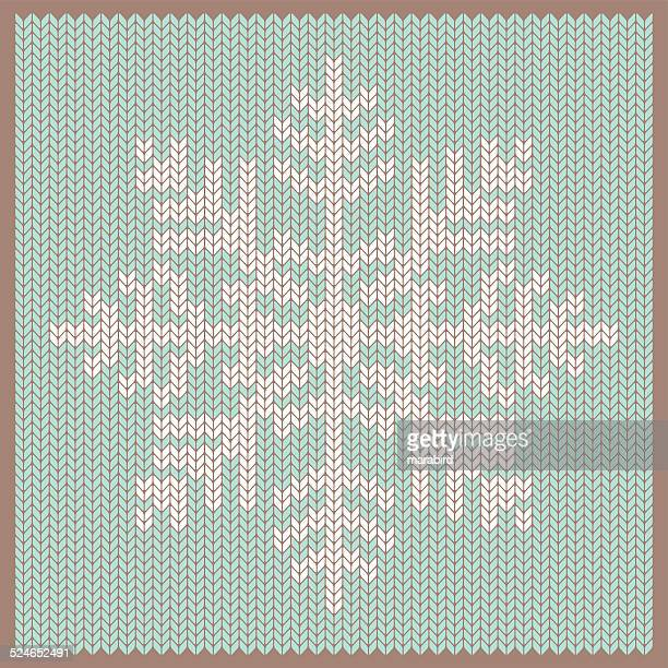 knitted snowflake - sweater stock illustrations, clip art, cartoons, & icons