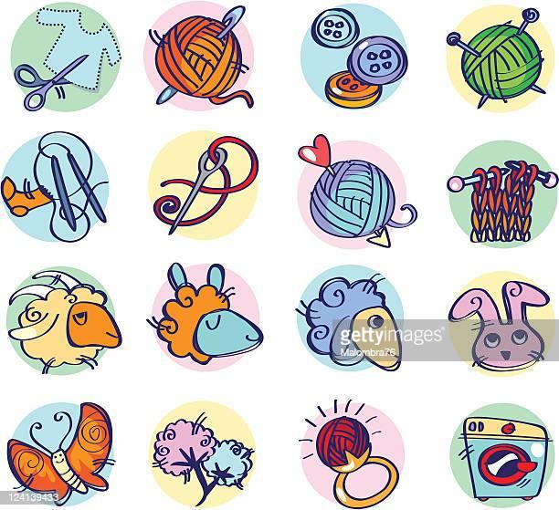 Artesanía icono de colores