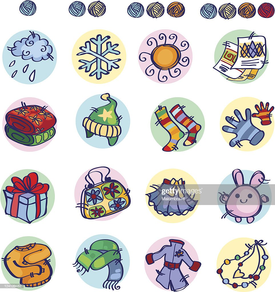 Knitters Icon part2 : stock illustration