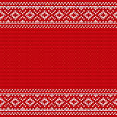 Knitting Christmas seamless pattern. Knitted texture. Vector illustration.